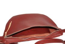 · Leather fanny pack