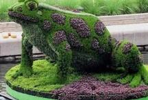 Grass  And Flower Sculpture