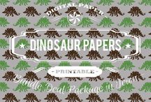 DINOSAUR PAPERS / DIGITAL PAPERS - DINOSAUR PAPERS BY DIGITAL PAPER SHOP