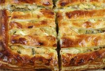 Savoury pies, quiches and slices.