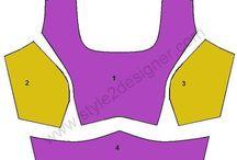 Sari blouse patterns
