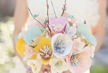 Wedding crafts / A selection of handmade crafts and decorations of a wedding theme.