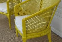 yellow chair and decor