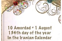 10 Amordad = 1 August / 134th day of the year In the Iranian Calendar www.chehelamirani.com