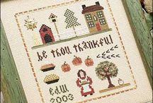 Free Autumn Cross-Stitch Patterns / by Craft Downloads