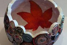 Vasi di carta / Vasi di carta realizzati da mani abili e talentuasi