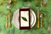 Tablescapes / Beautifully set tables are the benchmark of a hospitable hostess.
