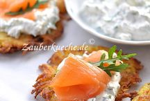 Knusprige Kartoffelpüree mit Lachs