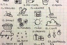 font idee / idee x vari font e doodle x bujo