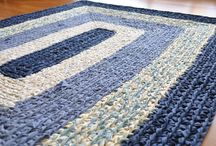Hooking and braided rugs