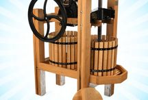Our Own Cider and Wine Presses / See our selection of cider and wine presses available at Happy Valley Ranch.