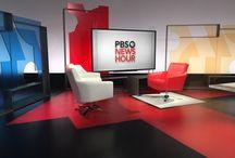 TV News Set Design / Set design for television news.