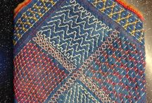 Heavily stitched or quilted quilts