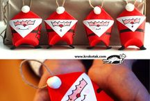 Adornos navidad con material reciclado