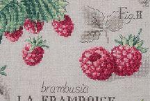 Frutti punto croce
