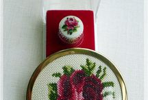 Petit point embroidery