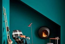 Teal aqua turquoise walls