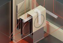 3d abstract concept enstallation