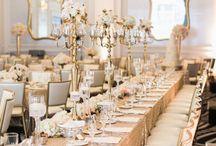 Metalic wedding decor
