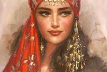 Arabic women art