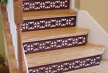 Stair Transformations! / Remodel ugly carpeted stairs with Hardwood Decorative Risers and Tread Covers