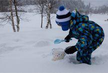 A la neige avec les enfants
