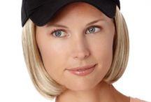 Baseball Caps with Hair / These baseball caps with hair attached are amazing!  No fuss! www.hairalternatives.net