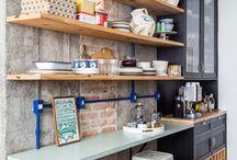 Área do café na cozinha