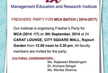 Fresher's Party for MCA (2014 -17)