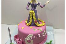 Rapunzel doğumgünü pastası / Rapunzel cake
