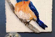 oiseau mosaique