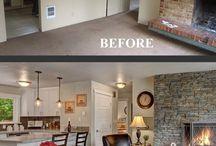 Antes e Depois - casa, reforma, apartamento