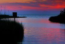 Dusk Dawn Skies Meeting Seas