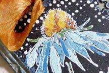 Cards: Tim Holtz - flowers