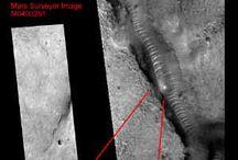 Mars and moon anomalies