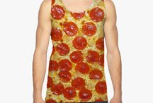 Food Tank Tops / Sublimation unisex tank tops with food all over it! Awesome gift ideas for friend who loves to eat!