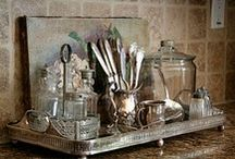 Silver and Mercury Glass / displays