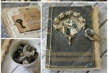 vintage journal collage