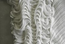 Textile inspiration / Textile manipulations to create surface design for garments, etc.