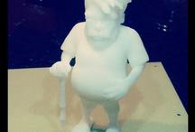 My 3d Printed Characters & Sculptures / Collection of 3d Prints of characters, figures and sculptures by Christina Chun.