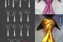 vázání kravaty a šátků