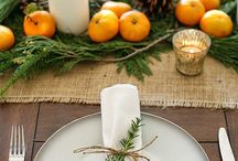 Christmas table serving