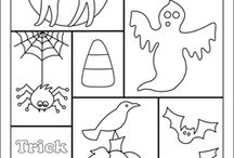 Halloween colouring in pages