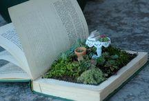 Fairy garden in a book