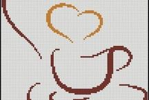 Kawa - haft krzyżykowy