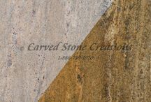 Carved Stone Colors / These are some of our most popular carved stone color options from Carved Stone Creations.  Dimensional stone blocks for carving stone sinks, fireplace mantels, bath tubs, columns, stone fountains & statuary.  / by Carved Stone Creations