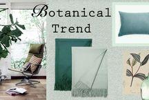 Botanical trends / decoration, interior, design, Alpaca products, plaids