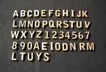 Wood Letters / Laser cut wood letters.