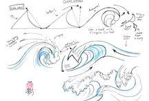 dessin de vagues