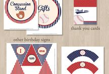 1st Birthday Baseball / Baseball ideas for boys 1st birthday